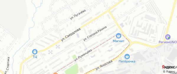 Улица им Степана Разина на карте Златоуста с номерами домов