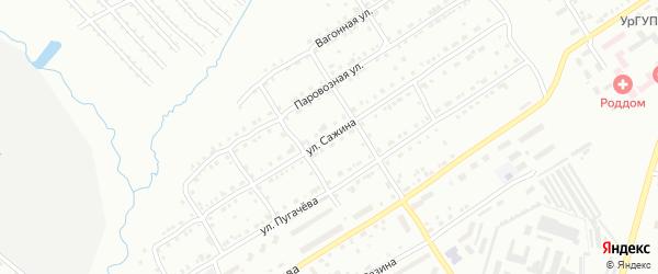Улица им Е.Ф.Сажина на карте Златоуста с номерами домов