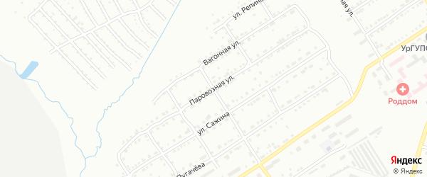 Паровозная улица на карте Златоуста с номерами домов