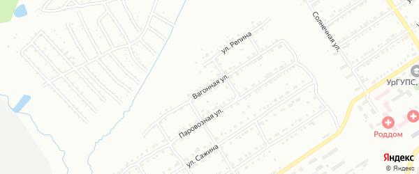 Вагонная улица на карте Златоуста с номерами домов