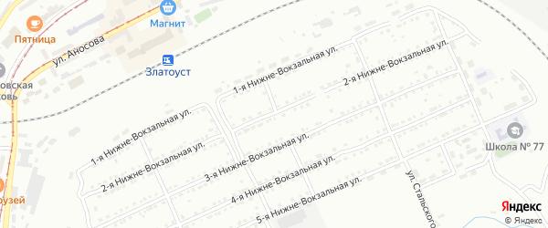 Нижне-Вокзальная 2-я улица на карте Златоуста с номерами домов