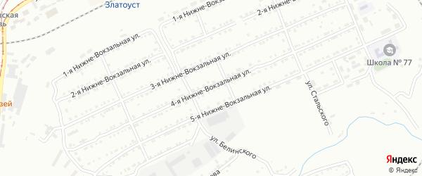 Тесьминская 4-я улица на карте Златоуста с номерами домов