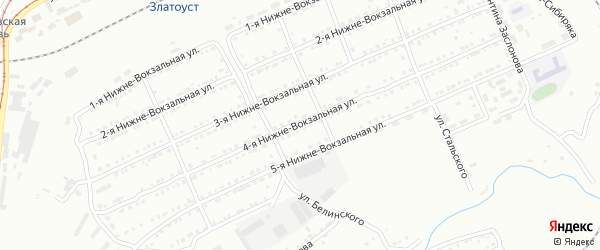 Нижне-Вокзальная 4-я улица на карте Златоуста с номерами домов