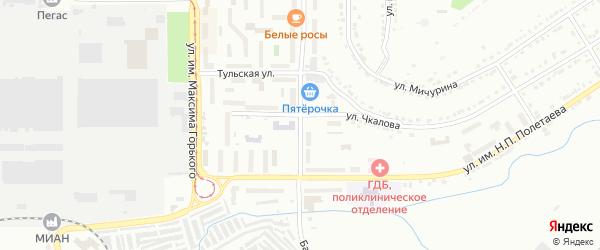 Улица им Н.А.Некрасова на карте Златоуста с номерами домов