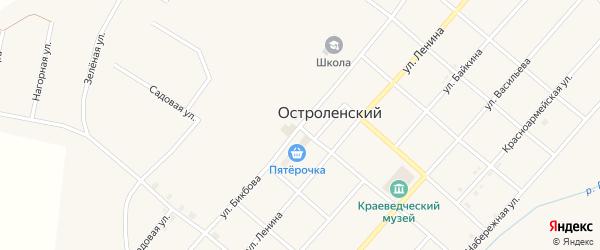 Улица Бикбова на карте Остроленского поселка с номерами домов