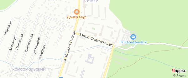 Южно-Есаульская улица на карте Златоуста с номерами домов