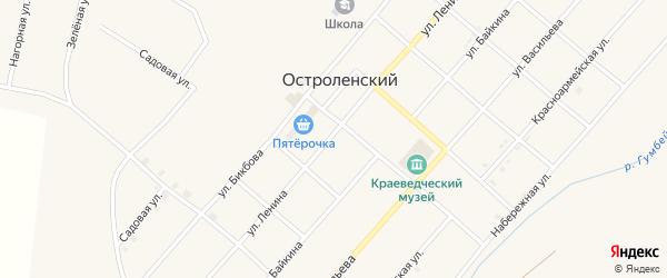 Улица Ленина на карте Остроленского поселка с номерами домов