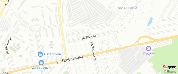Улица им А.С.Попова на карте Златоуста с номерами домов
