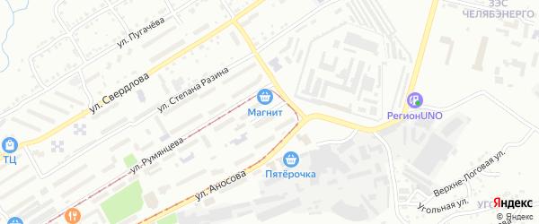 Шоссейная 2-я улица на карте Златоуста с номерами домов
