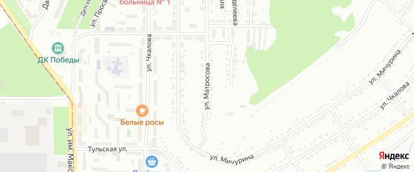 Улица им А.М.Матросова на карте Златоуста с номерами домов