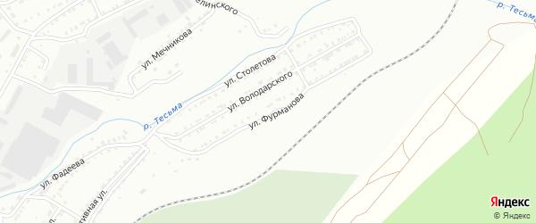 Улица им Д.А.Фурманова на карте Златоуста с номерами домов