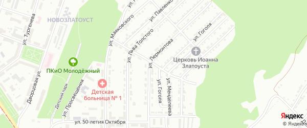 Центральная улица на карте поселка Плотинки с номерами домов