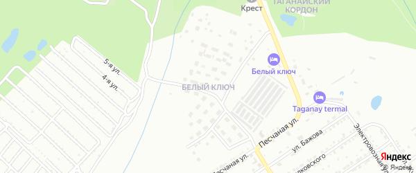 Квартал Белый Ключ на карте Златоуста с номерами домов