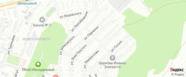 Улица им Льва Толстого на карте Златоуста с номерами домов