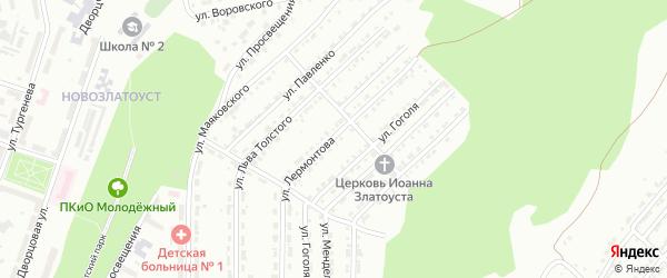 Улица им М.Ю.Лермонтова на карте Златоуста с номерами домов