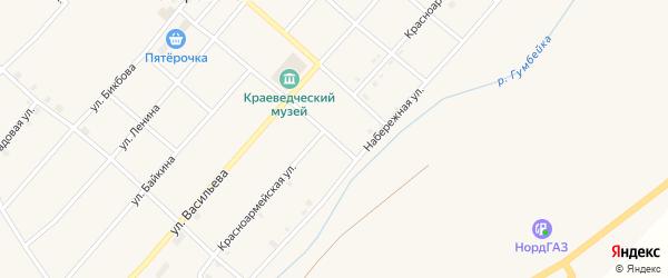 Красноармейская улица на карте Остроленского поселка с номерами домов