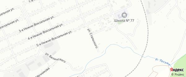 Улица им Сулеймана Стальского на карте Златоуста с номерами домов