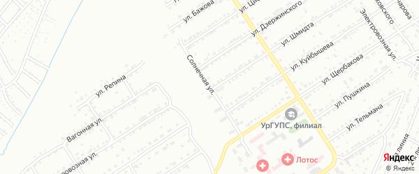 Солнечная улица на карте Златоуста с номерами домов
