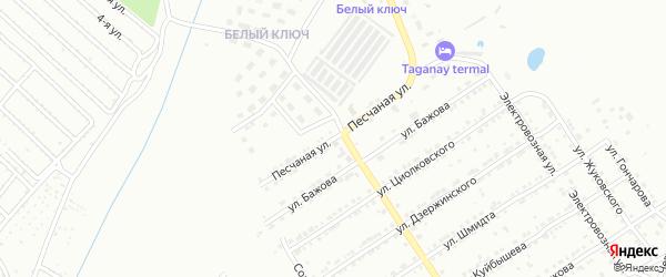Песчаная улица на карте Златоуста с номерами домов