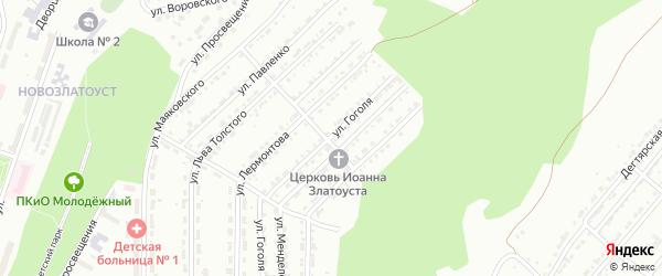 Улица им Н.В.Гоголя на карте Златоуста с номерами домов