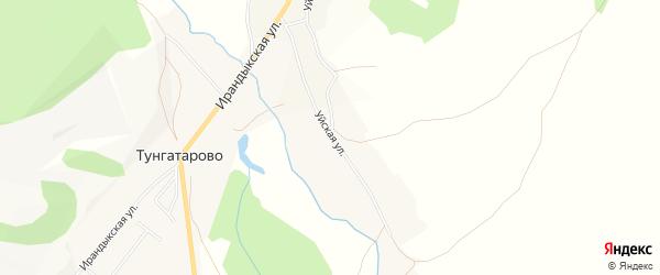 Карта деревни Тунгатарово в Башкортостане с улицами и номерами домов
