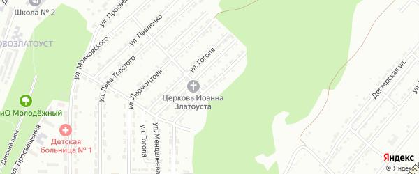 Улица им Богдана Хмельницкого на карте Златоуста с номерами домов
