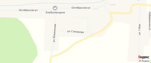 Улица Степанова на карте деревни Ситцева с номерами домов