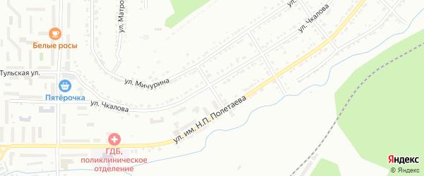 Горьковский переулок на карте Златоуста с номерами домов