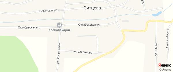 Улица Строителей на карте деревни Ситцева с номерами домов