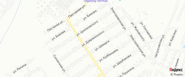 Улица им Ф.Э.Дзержинского на карте Златоуста с номерами домов