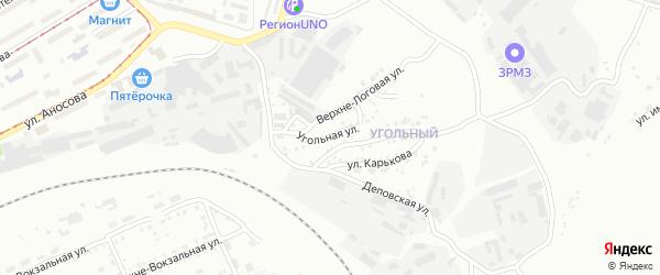Угольная улица на карте Златоуста с номерами домов