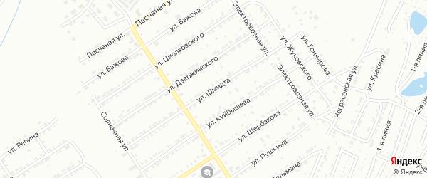 Улица им О.Ю.Шмидта на карте Златоуста с номерами домов