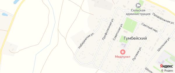 Набережная улица на карте Гумбейского поселка с номерами домов