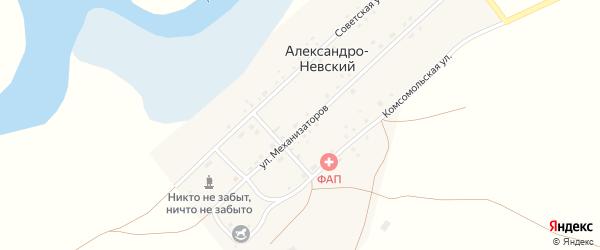 Улица Механизаторов на карте Александра-Невского поселка с номерами домов
