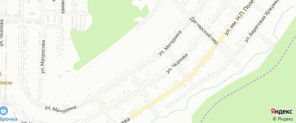 Улица им И.В.Мичурина на карте Златоуста с номерами домов