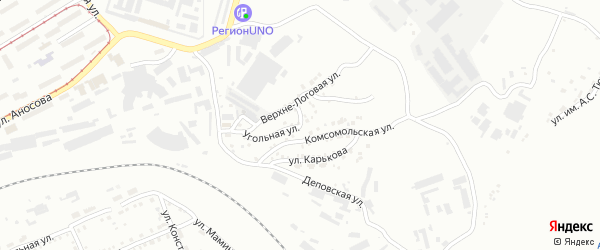 Улица Горка на карте Златоуста с номерами домов