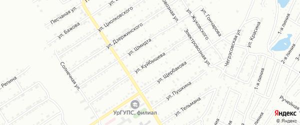 Улица им В.В.Куйбышева на карте Златоуста с номерами домов