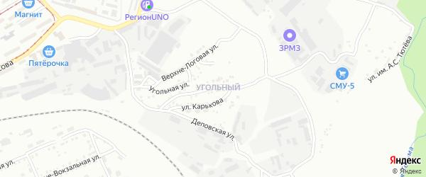Комсомольская улица на карте Златоуста с номерами домов