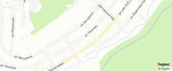 Улица им В.П.Чкалова на карте Златоуста с номерами домов