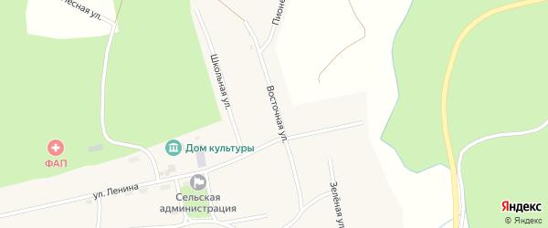 Восточная улица на карте Кедрового поселка с номерами домов