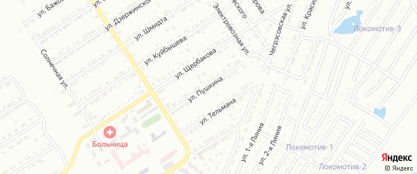 Улица им А.С.Пушкина на карте Златоуста с номерами домов
