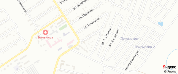 Инкубаторная улица на карте Златоуста с номерами домов