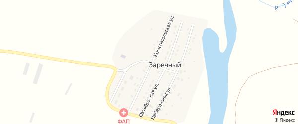 Комсомольская улица на карте Заречного поселка с номерами домов