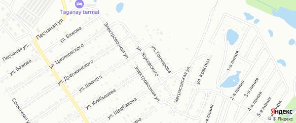 Улица им В.А.Жуковского на карте Златоуста с номерами домов