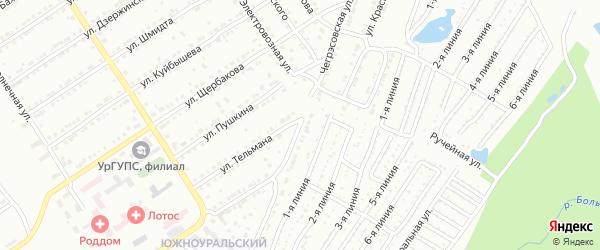 Чегрэсовская улица на карте Златоуста с номерами домов