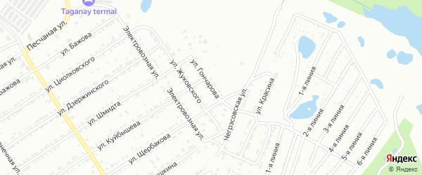 Улица им И.А.Гончарова на карте Златоуста с номерами домов