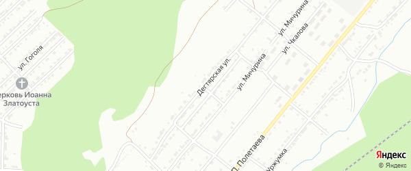 Дегтярская улица на карте Златоуста с номерами домов