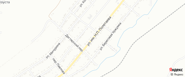 Улица им Н.П.Полетаева на карте Златоуста с номерами домов