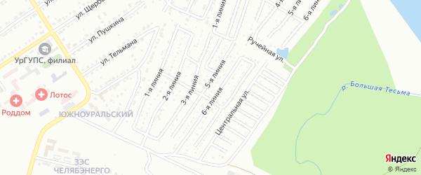 Территория ГК Локомотив на карте Златоуста с номерами домов