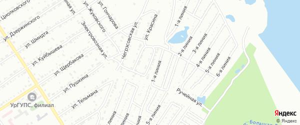 Коллективная улица на карте Златоуста с номерами домов